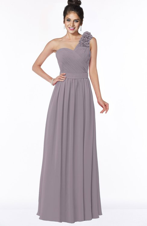ColsBM Elisa Cameo Simple A-line One Shoulder Half Backless Chiffon Flower Bridesmaid Dresses