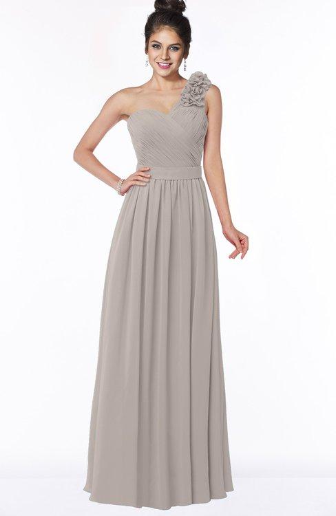 ColsBM Elisa Fawn Simple A-line One Shoulder Half Backless Chiffon Flower Bridesmaid Dresses