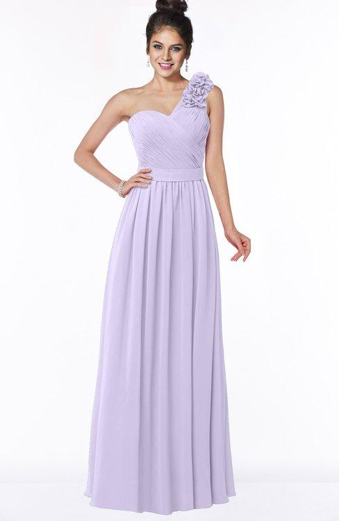 ColsBM Elisa Light Purple Simple A-line One Shoulder Half Backless Chiffon Flower Bridesmaid Dresses