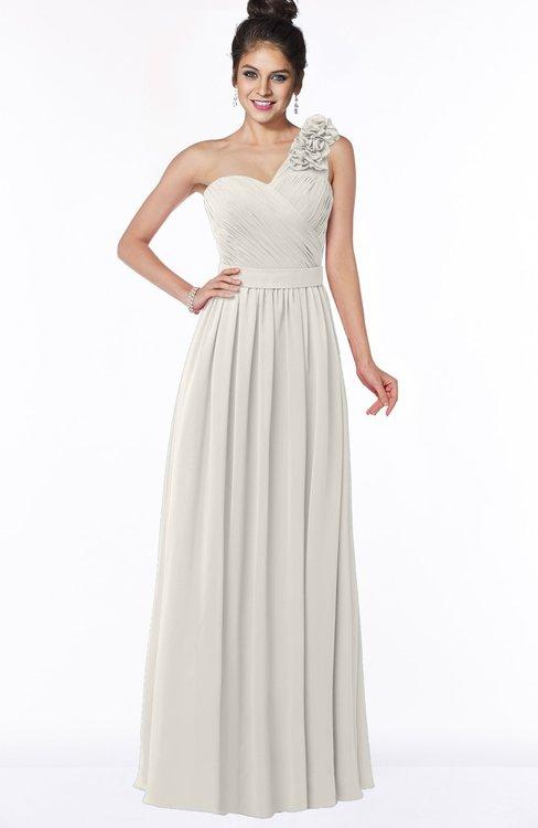 ColsBM Elisa Off White Simple A-line One Shoulder Half Backless Chiffon Flower Bridesmaid Dresses