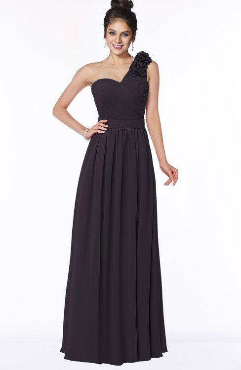 ColsBM Elisa Perfect Plum Simple A-line One Shoulder Half Backless Chiffon Flower Bridesmaid Dresses