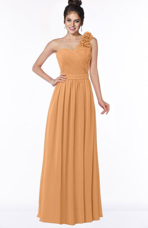 ColsBM Elisa Pheasant Simple A-line One Shoulder Half Backless Chiffon Flower Bridesmaid Dresses