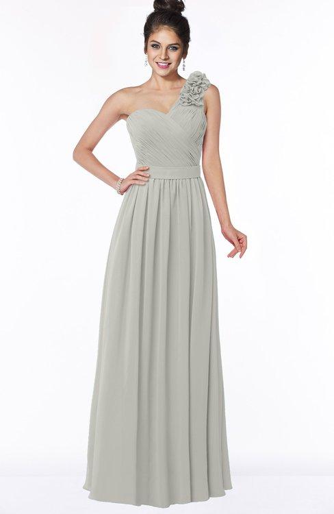 ColsBM Elisa Platinum Simple A-line One Shoulder Half Backless Chiffon Flower Bridesmaid Dresses