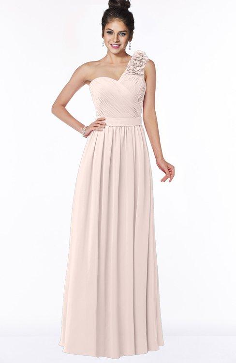 ColsBM Elisa Silver Peony Simple A-line One Shoulder Half Backless Chiffon Flower Bridesmaid Dresses