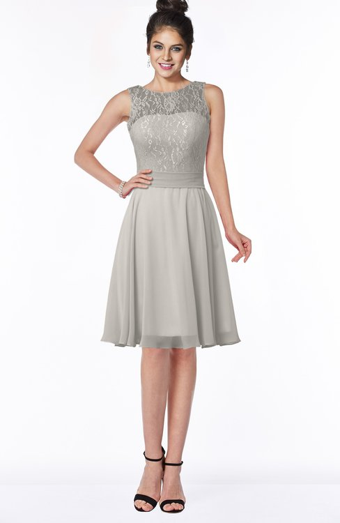 ColsBM Helen Ashes Of Roses Glamorous A-line Scoop Zip up Chiffon Sash Bridesmaid Dresses