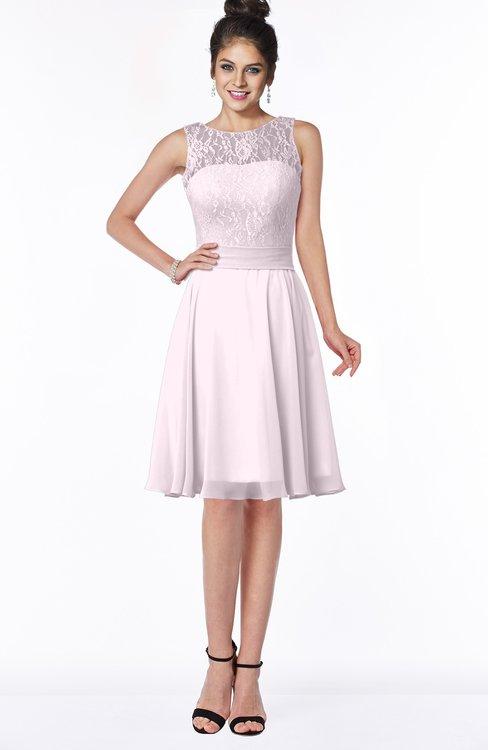 ColsBM Helen Blush Glamorous A-line Scoop Zip up Chiffon Sash Bridesmaid Dresses