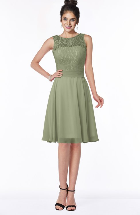 ColsBM Helen Bog Glamorous A-line Scoop Zip up Chiffon Sash Bridesmaid Dresses