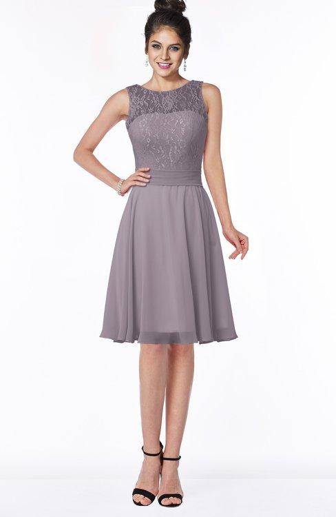ColsBM Helen Cameo Glamorous A-line Scoop Zip up Chiffon Sash Bridesmaid Dresses