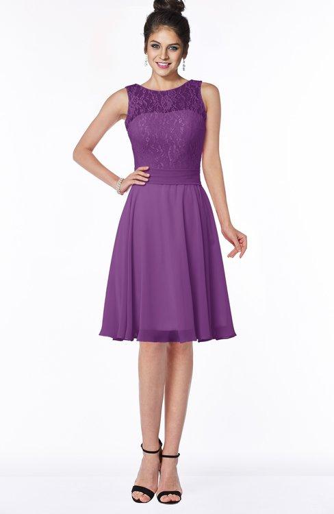 ColsBM Helen Dahlia Glamorous A-line Scoop Zip up Chiffon Sash Bridesmaid Dresses