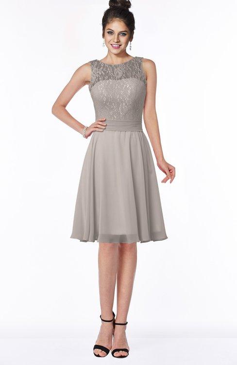 ColsBM Helen Fawn Glamorous A-line Scoop Zip up Chiffon Sash Bridesmaid Dresses