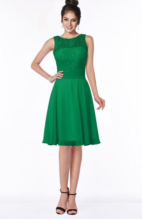 ColsBM Helen Jelly Bean Glamorous A-line Scoop Zip up Chiffon Sash Bridesmaid Dresses