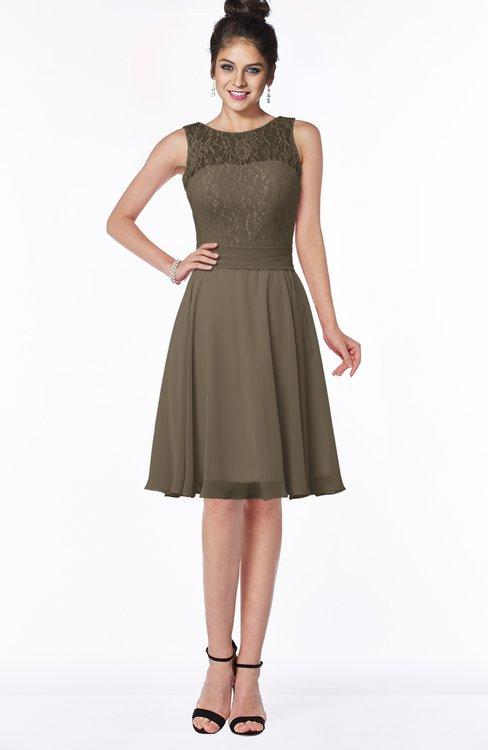ColsBM Helen Otter Glamorous A-line Scoop Zip up Chiffon Sash Bridesmaid Dresses