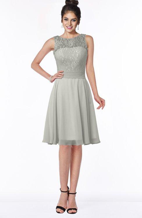 ColsBM Helen Platinum Glamorous A-line Scoop Zip up Chiffon Sash Bridesmaid Dresses