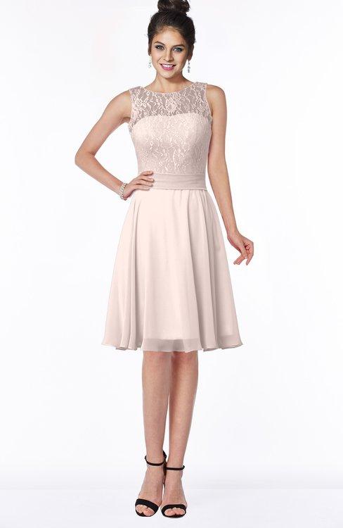 ColsBM Helen Silver Peony Glamorous A-line Scoop Zip up Chiffon Sash Bridesmaid Dresses