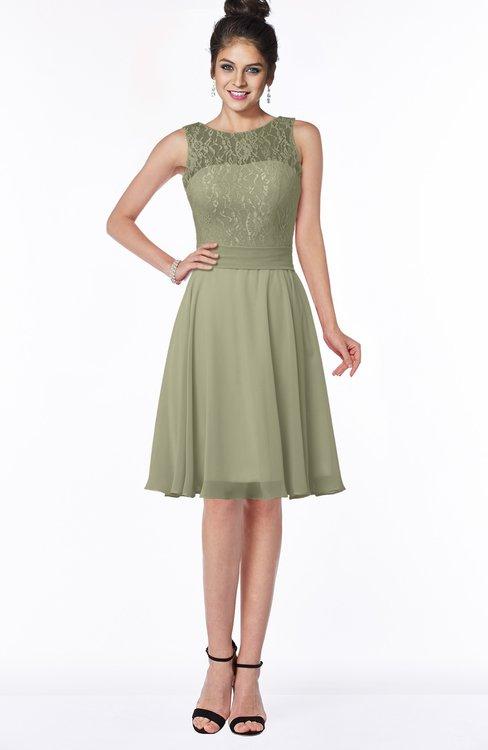 ColsBM Helen Sponge Glamorous A-line Scoop Zip up Chiffon Sash Bridesmaid Dresses