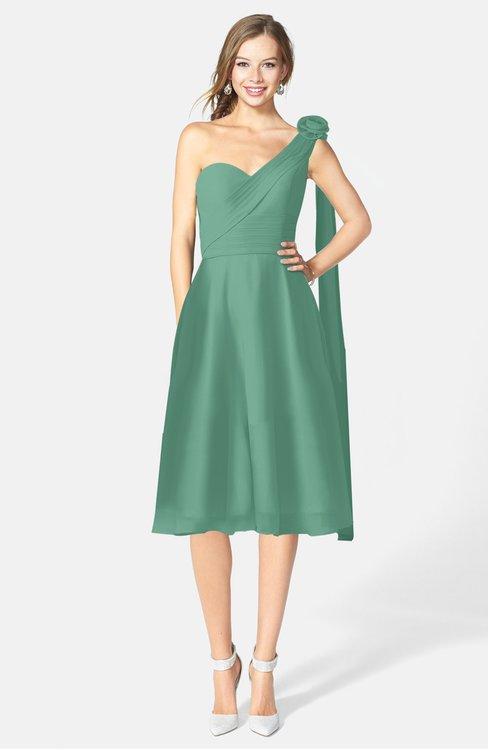 ColsBM Mattie Bristol Blue Classic A-line Sweetheart Sleeveless Knee Length Ruching Bridesmaid Dresses