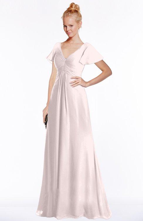 ColsBM Ellen Angel Wing Modern A-line V-neck Short Sleeve Zip up Floor Length Bridesmaid Dresses