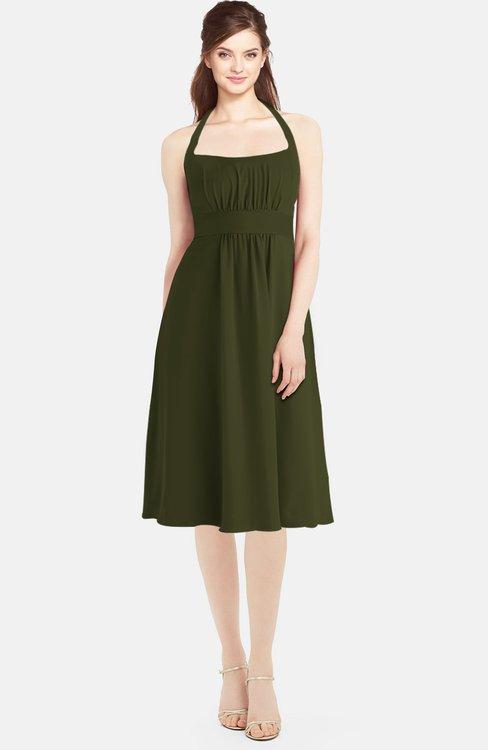ColsBM Amya Beech Glamorous Sleeveless Zip up Chiffon Knee Length Bridesmaid Dresses
