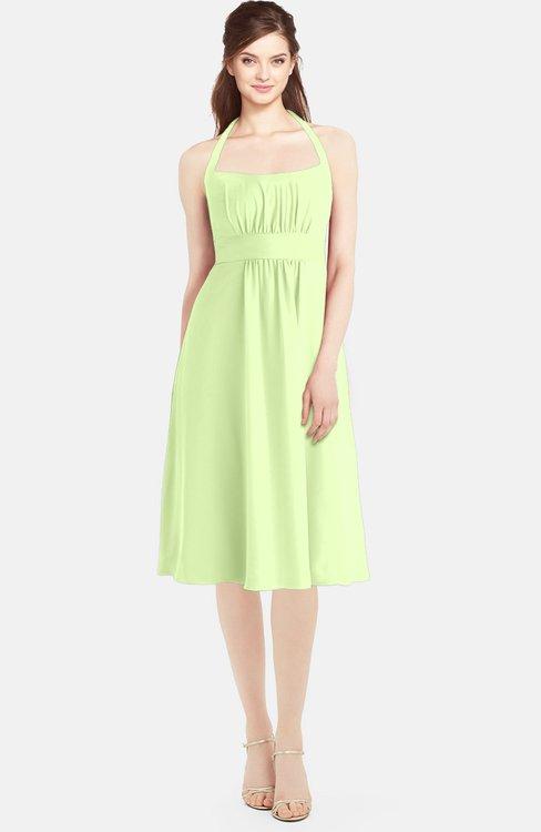 ColsBM Amya Butterfly Glamorous Sleeveless Zip up Chiffon Knee Length Bridesmaid Dresses