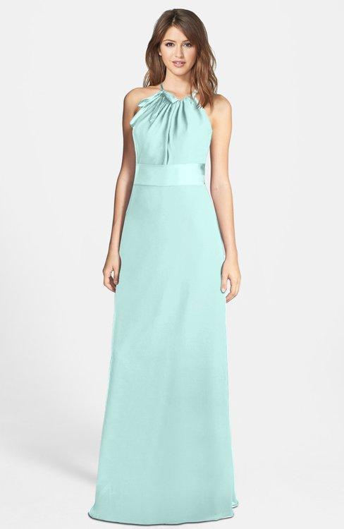 ColsBM Leah Blue Glass Luxury A-line Sleeveless Zip up Chiffon Floor Length Bridesmaid Dresses
