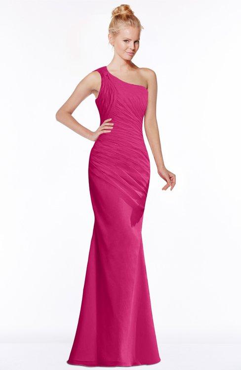 ColsBM Michelle Beetroot Purple Simple A-line Sleeveless Chiffon Floor Length Bridesmaid Dresses