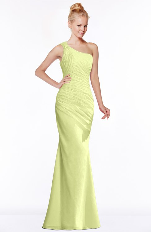 ColsBM Michelle Lime Sherbet Simple A-line Sleeveless Chiffon Floor Length Bridesmaid Dresses