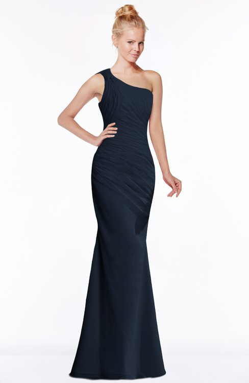 ColsBM Michelle Navy Blue Simple A-line Sleeveless Chiffon Floor Length Bridesmaid Dresses