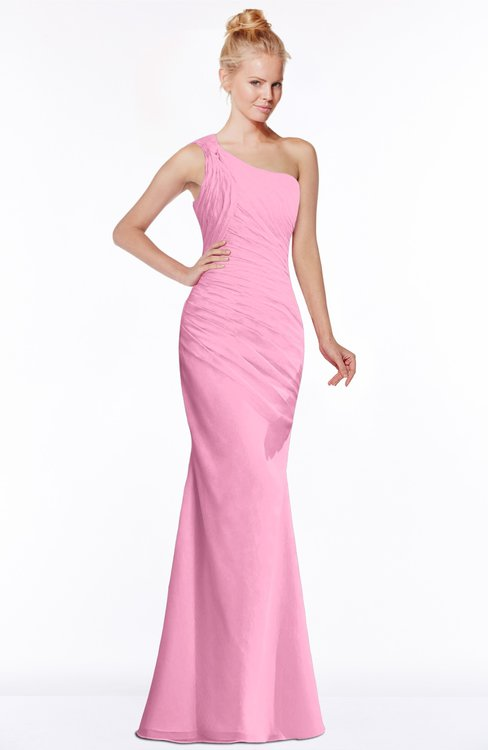 6b3153b0c3 colsbm michelle pink simple aline sleeveless chiffon floor length  bridesmaid dresses.