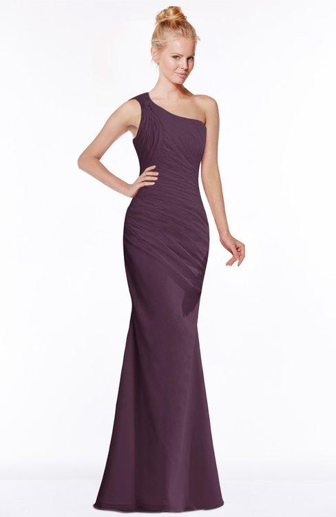 ColsBM Michelle Plum Simple A-line Sleeveless Chiffon Floor Length Bridesmaid Dresses