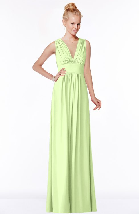 ColsBM Carolyn Butterfly Classic V-neck Sleeveless Zip up Ruching Bridesmaid Dresses
