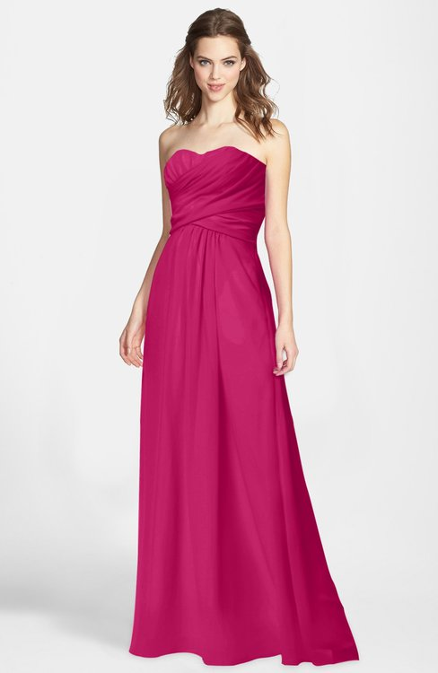 ColsBM Aliana Beetroot Purple Simple Sweetheart Sleeveless Zip up Chiffon Bridesmaid Dresses