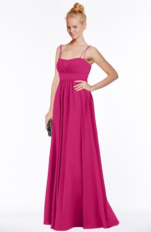 ColsBM Shelby Beetroot Purple Glamorous Empire Sleeveless Chiffon Ruching Bridesmaid Dresses