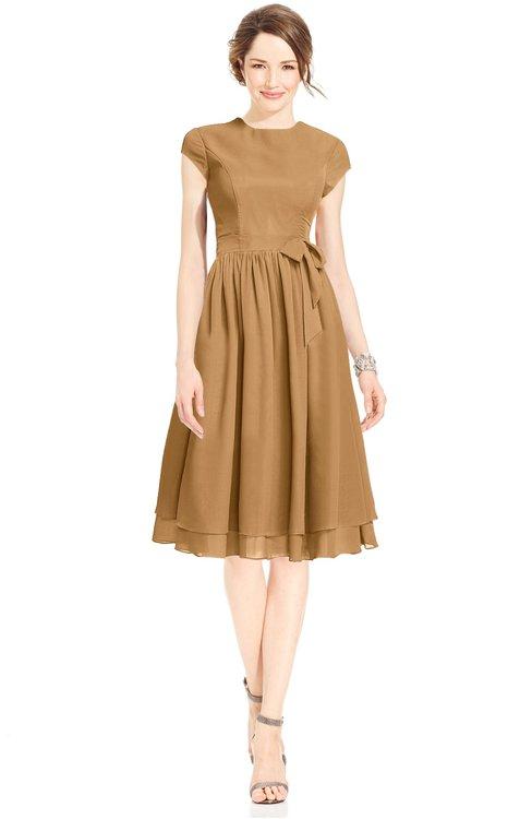 ColsBM Jane Doe Mature Fit-n-Flare High Neck Zip up Chiffon Bridesmaid Dresses