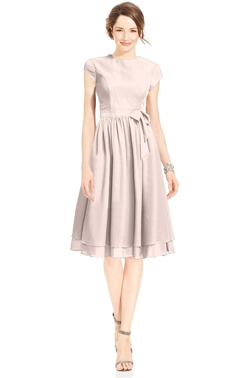 ColsBM Jane Silver Peony Mature Fit-n-Flare High Neck Zip up Chiffon Bridesmaid Dresses