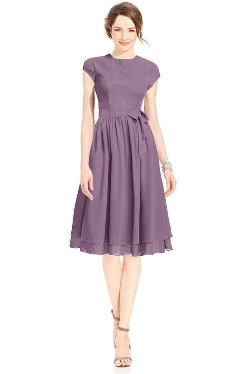 ColsBM Jane Valerian Mature Fit-n-Flare High Neck Zip up Chiffon Bridesmaid Dresses