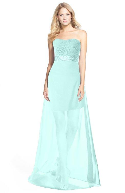 ColsBM Daleyza Blue Glass Classic A-line Sweetheart Zip up Chiffon30 Floor Length Bridesmaid Dresses