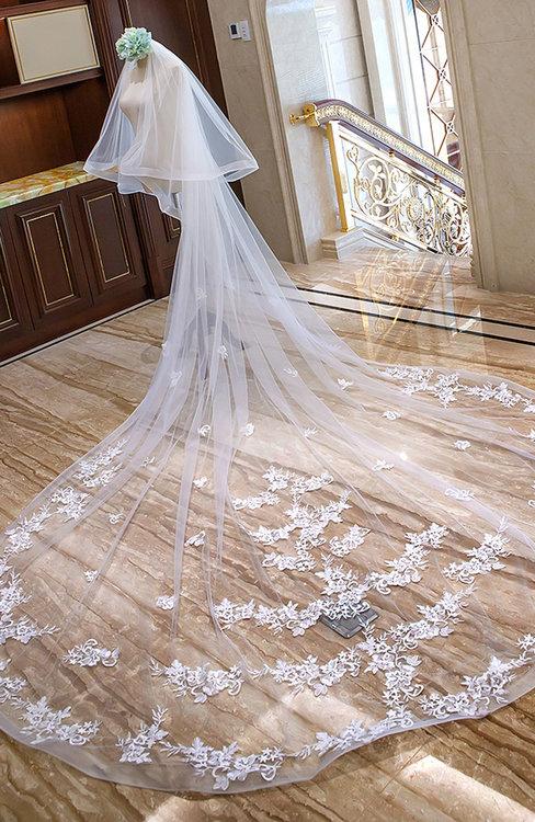 ColsBM V95029 White Wedding Veil 95029
