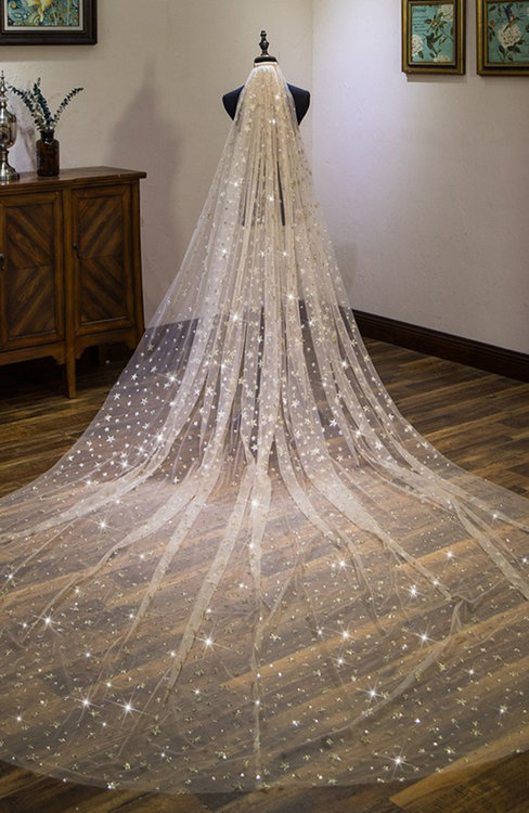 ColsBM V95032 Gold Wedding Veil 95032