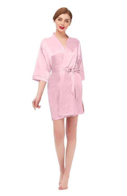 ColsBM D42079 Rose Shadow V-neck Sash Three-fourths Length Sleeve Short Robe