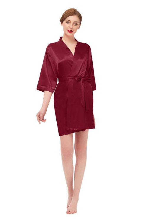 ColsBM D42079 Scooter V-neck Sash Three-fourths Length Sleeve Short Robe
