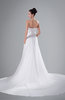 ColsBM Alina White Classic Hall Sweetheart Sleeveless Backless Chapel Train Ruching Bridal Gowns