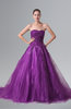 ColsBM Reina Wood Violet Glamorous Outdoor Princess Sweetheart Sleeveless Chapel Train Rhinestone Bridal Gowns