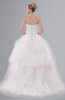 ColsBM Amelia White Fairytale Beach Ball Gown Lace up Brush Train Sequin Bridal Gowns