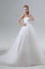 ColsBM Joslyn White Gorgeous Church Sleeveless Backless Chapel Train Lace Bridal Gowns