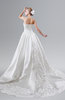 ColsBM Iliana White Glamorous Garden Fit-n-Flare Strapless Sleeveless Criss-cross Straps Chapel Train Bridal Gowns