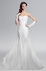 ColsBM Arya Cream Glamorous Outdoor Sheath Strapless Backless Lace Sequin Bridal Gowns