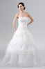ColsBM Celeste White Cinderella Church A-line Sleeveless Zip up Floor Length Plus Size Bridal Gowns