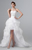 ColsBM Aniya White Modern Hall A-line Sweetheart Sleeveless Zip up Rhinestone Plus Size Bridal Gowns