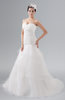 ColsBM Catalina White Classic Church Strapless Sleeveless Zipper Chapel Train Tiered Bridal Gowns