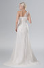 ColsBM Athena Cream Plain Outdoor A-line One Shoulder Sleeveless Brush Train Lace Bridal Gowns
